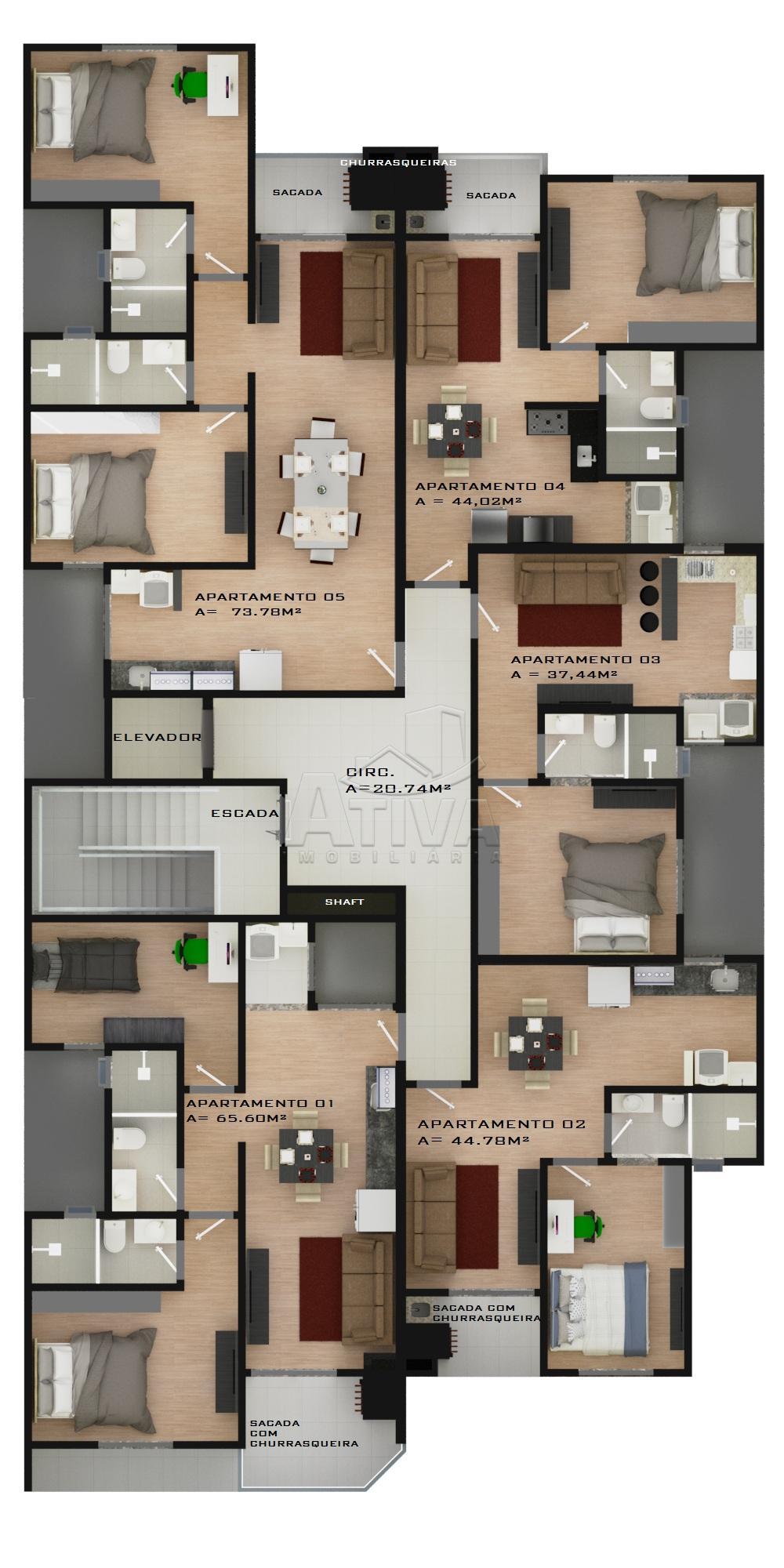 Comprar Apartamento / Padrão em Toledo apenas R$ 158.609,90 - Foto 4