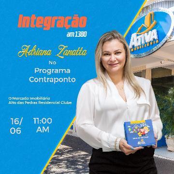 Adriana Zanatta no Programa Contraponto - Rádio Integração